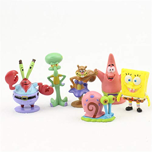 6pc SpongeBo.b SquarePants the Cars Cake Topper SpongeBob SquarePants Cupcake Toppers cake decoration for boys