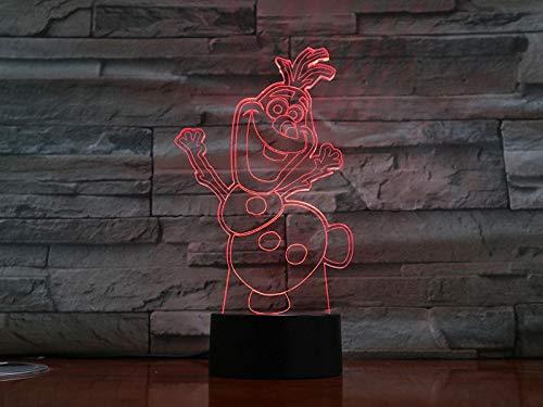 Veilleuse-Frozen Characters-Remote Diaporama 3D, Lumière D'Illusion, Lumière D'Ambiance Led, Cadeau Pour Enfants, Décoration De La Maison