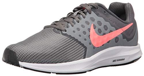 Nike Women's Downshifter 7 Running Shoe, Cool Grey/Lava Glow - Dark Grey, 10 Wide US