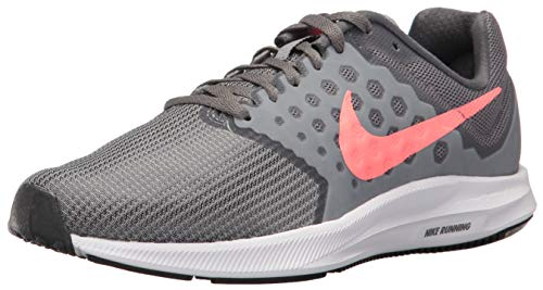 Nike Women's Downshifter 7 Running Shoe, Cool Grey/Lava Glow - Dark Grey, 5 Regular US