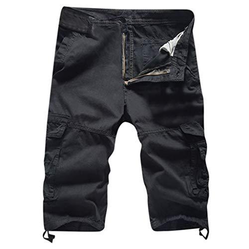 Sayla Pantalones Hombre Verano Moda Casual Cortos Cargo Bermuda Deporte Cortos Cargo Pantalones Cortos Bermudas con CinturóN Bolsillos MúLtiples Al Aire Libre Bundle