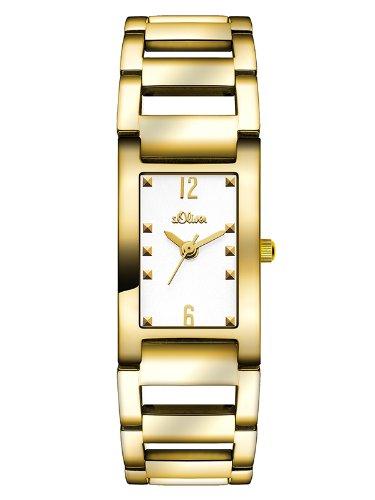 s.Oliver Damen-Armbanduhr XS Analog Quarz Edelstahl SO-2805-MQ