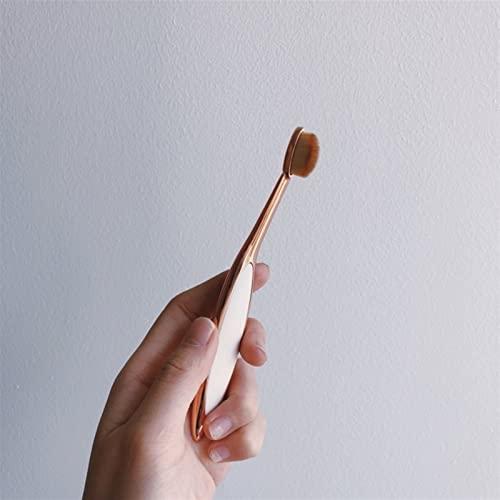 lkpoijuh Pinceaux de Maquillage Ovale Portable Brosse à Dents Ovale Maquillage Found Foundation Tool de Maquillage (Handle Color : 07)