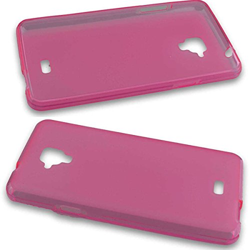 caseroxx TPU-Hülle & Bildschirmschutzfolie für Archos 50 Titanium 4G, Set (TPU-Hülle in pink)