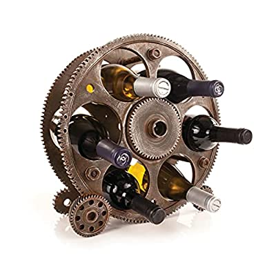 Round Industrial Wine Rack