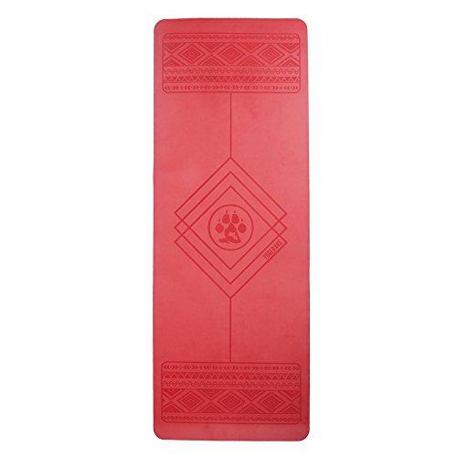 Yogi Bare Paws Esterilla de yoga - Antideslizante y de caucho natural - Rojo