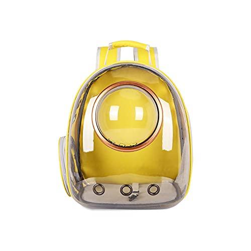 XKUN Bolsa De Mascotas Transparente Bolsa De Hombro Transpirable Panorámica Capacidad Grande Y Gato Bolsa De Gato 5 Kg Bolso De Viaje para Perros(Color:Amarillo)