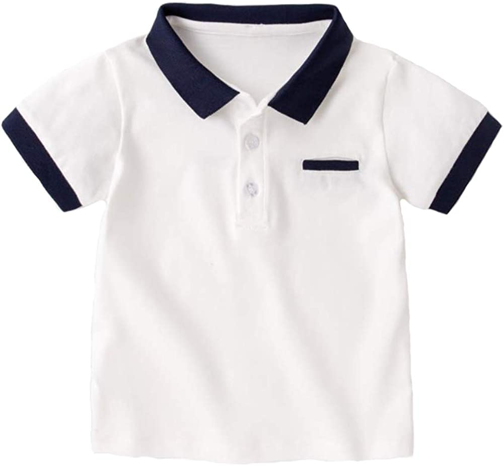 Motteecity Little Boys Polo-Shirt Short Sleeve Summer