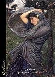 Bóreas, John William Waterhouse: Cuaderno A4 cuadriculado (5x5 mm) sin espiral. Serie Cuadros Famosos (arte). Pinturas prerrafaelitas victorianas.