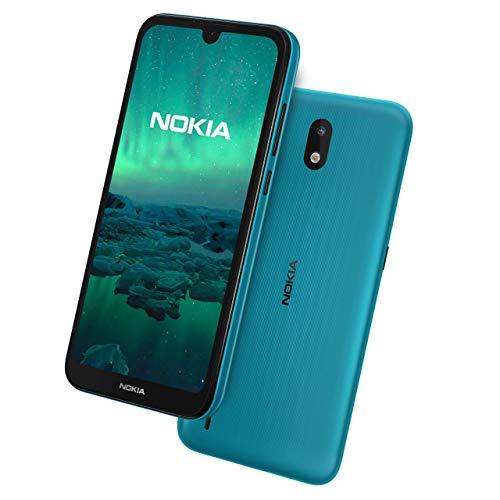 Nokia 1,3 5,71 Zoll Android UK SIM-Free Smartphone mit 1 GB RAM & 16 GB Speicher (Dual SIM) - Cyan (Renewed)