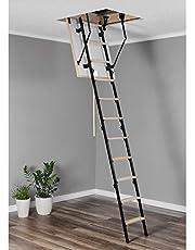 Escalera de suelo de madera y metal