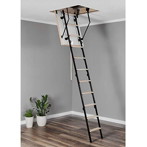 Escalera de suelo mini térmica, 100 x 70, de madera, escalera de metal