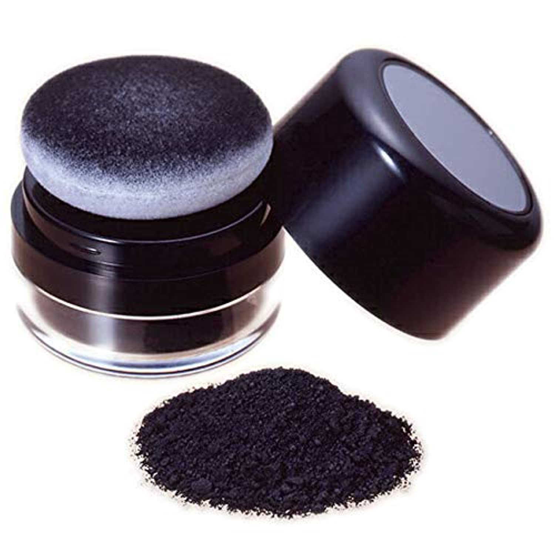 薄毛部分にミクロの粉でハゲ隠の黒い粉し【ヘ ア ー フ ァ ン デ ー シ ョ ン (黒色)