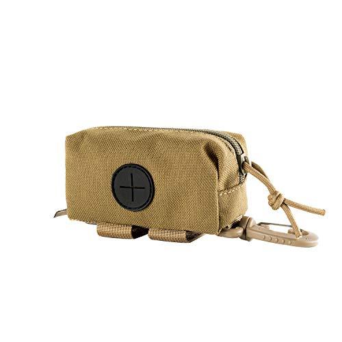 OneTigris Kotbeutelspender für Hunde MOLLE Pet Poop Tasche Halter-passt für Jede Hundeleine (Braun-Small Size) |MEHRWEG Verpackung