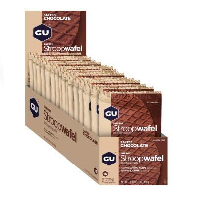 GU - 769493101600/432 : Galleta gofre energetico Chocolate Salado GU Waffle 16U