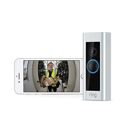 Ring Video Doorbell Pro mit Netzteil von Amazon, 1080p HD-Video, Gegensprechfunktion, Bewegungserfassung, über WLAN verbunden | Mit kostenlosem 30-tägigem Probeabonnement von Ring Protect