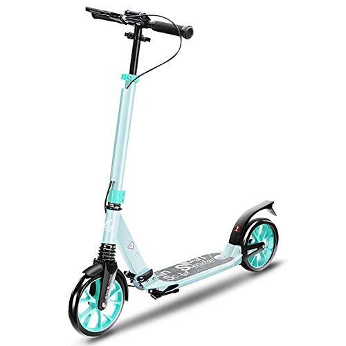 SCOOTERYW Adult Big Wheel Scooter – Lichtgewicht Opvouwbare Scooter met Verstelbaar Stuur en Achterspatbord, Niet-elektrisch, 220 lbs Gewicht Capaciteit