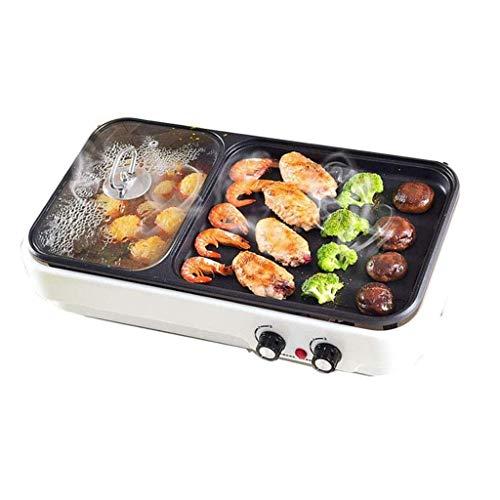 Grill Indoor Heißer, multifunktionaler Teppanyaki-Grill mit Trennwand Separate Doppeltemperatur-Gegenleistung, Kapazität für 6 Personen Familientreffen