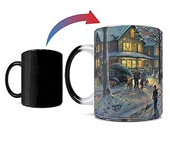 A Christmas Story - Hammond Indiana Neighborhood - Thomas Kinkade - One 11 oz Morphing Mugs Color Changing Heat Sensitive Ceramic Mug – Image Revealed When HOT Liquid Is Added!