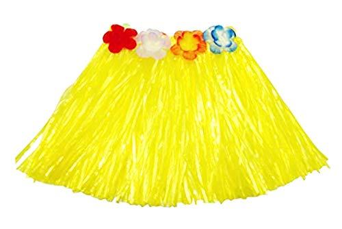 Hawaiiaanse rok - hawaï - rok - vaiana - moana - accessoires - oceanië - carnaval - vermomming - halloween - 30 cm - meisjes - geel - origineel geschenkidee cosplay