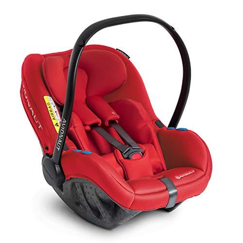 Silla de seguridad infantil Avionaut Pixel | la silla de seguridad infantil más ligera del mundo | grupo 0+ (0-13kg, 40cm-86cm) | para bebés de 0 a 12 meses | Warsaw Rojo