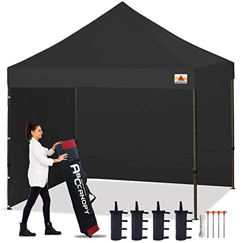 ABCCANOPY Gazebo 3 x 3 m Waterproof Flat Gazebo Party Tent Garden Tent Marquee with 2 Side Panels and Handbag