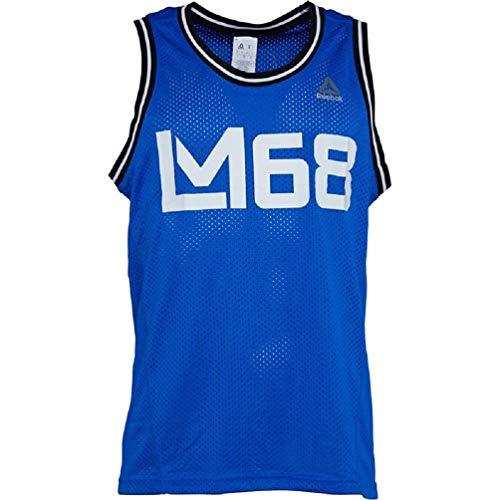 Reebok LM Mesh Bball Camiseta, Hombre, Azul (vitblu), S