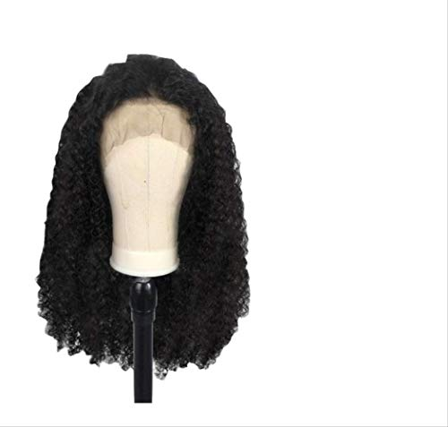 WFQ Perruque de cheveux humains bouclés 360 dentelle, densité 150%, 33 x 15 cm, cheveux humains bouclés 130 densité 33 x 10 cm, 50,8 cm