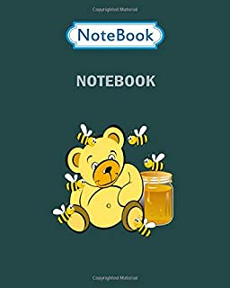 Notebook: sweet little honey bear present idea for kids - for men woman Journal/Notebook Blank Lined Ruled 100 pages 8x10 inches