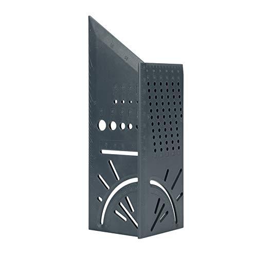 Lineal mit T-förmigem Lineal, Gehrung, 90 Grad Mess-Layout, Verwendung für Zeichenwerkzeuge und Zeichen-Sets (Farbe: Dunkelgrau)