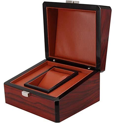 1 Caja de exhibición de Almacenamiento de Reloj, Caja de Almacenamiento de Recuerdos de joyería, Caja de exhibición con Caja de Madera y Cierre de Broche de presión, Regalo para Hombres