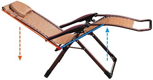 Deezu Liegestuhl Klappbar Gartenstuhl Sonnenliege Zero Gravity Lounge Chair Recliners für Patio Maxi-Lounger Chair Balkon Folding Zurück Sonnenliege (Farbe B) B