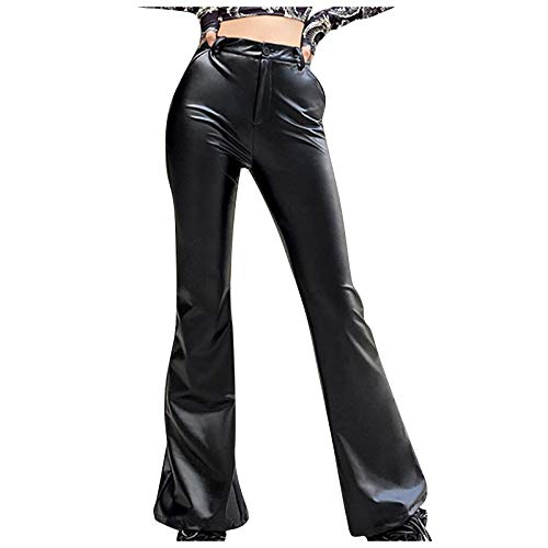 Womens Legging, Women's Solid High Waisted Pocket Wide Leg Pants Straight Baggy Trousers for Summer Holiday
