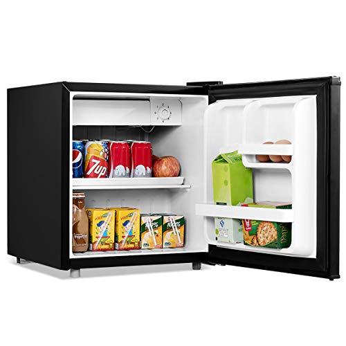 GOPLUS 48L Minikühlschrank Hotelkühlschrank Standardkühlschrank Getränkekühlschrank mit regelbarer Thermostat, Farbwahl 49 x 46 x 44 cm (Schwarz)