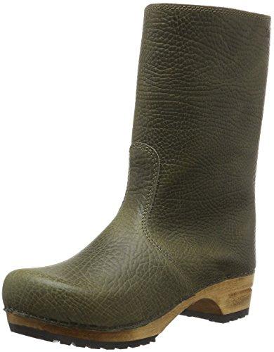 Sanita Damen Puk Boot Schlupfstiefel, Grün (Olive 64), 41