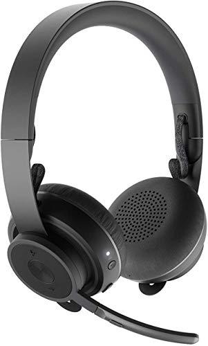 Logitech Zone Binaural Diadema Negro - Auriculares con micrófono (Centro de Llamadas/Oficina, Binaural, Diadema, Negro, Inalámbrico, USB Tipo A)