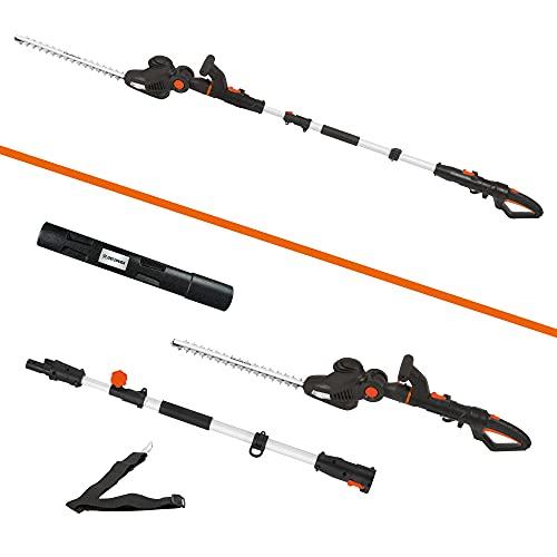 Cortasetos combinado eléctrico de DELTAFOX 2in1 - Cortasetos telescópico y cortasetos eléctrico en uno - Brazo telescópico extraíble - Longitud de la cuchilla de 48 cm - Motor de 460 W