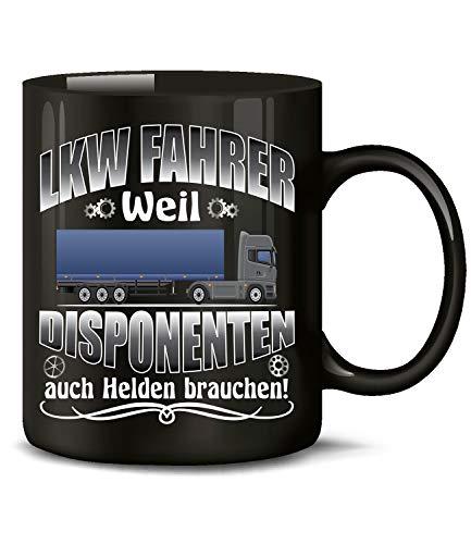 Golebros LKW Fahrer Weil Disponenten 6399 Kaffee Tasse Becher Geschenk Berufs kraftfahrer Arbeitskleidung Lastwagen Trucker Fern Schwarz