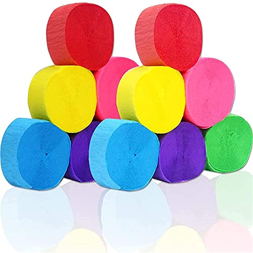 Coceca 12 Rolls Crepe Paper Streamers in 6 Colors for...