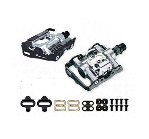 Onogal Pedales Mixtos Spd Automatico Compatible con Shimano + Calas Para Bicicleta 3021