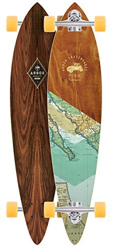 Arbor Fish Premium Complete Skateboard, Assorted, 39 L x 8.75 W x 27.75 WB by Arbor