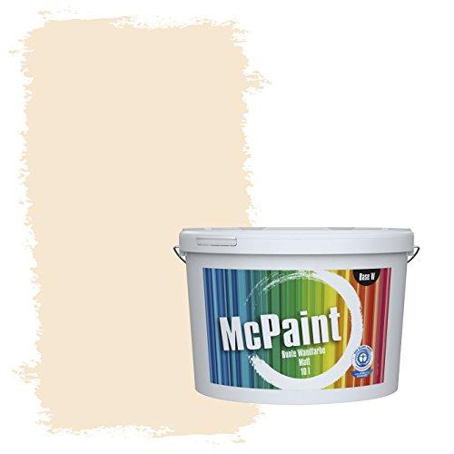 McPaint Bunte Wandfarbe Vanilla - 10 Liter - Weitere Orange Farbtöne Erhältlich - Weitere Größen Verfügbar