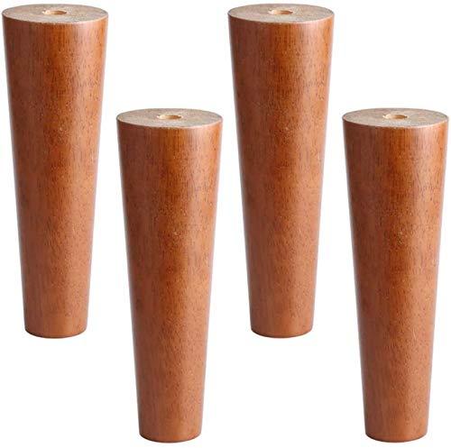 Patas para muebles, Set 0F 4 Madera maciza Patas de noceguera Gabinete de nogal Pie de reemplazo de la pierna de la pierna para el cartón del armario otomano Cómoda de la mesa del lado 312En, 8cm / 3i