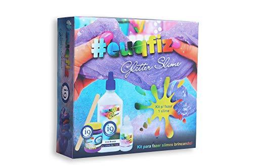 Slime, Kit 1 Glitter Slime, Euqfiz, I9 Brinquedos