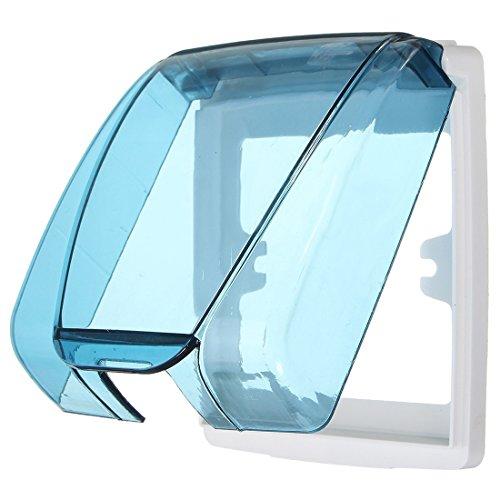 Cuasting Universal impermeable 86 tipo placa de enchufe de pared panel interruptor cubierta cubierta protectora azul
