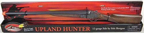 Big Game Toys~Double Barrel-Upland Hunter Monte Carlo Side x Side Shotgun Rifle Removable Shells Cap Gun Toy