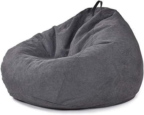 Puf de lino para silla de sofá, juguete de peluche, organizador de ropa, asiento de piso de color sólido, diseño simple al aire libre e interior, tumbona perezosa sin relleno