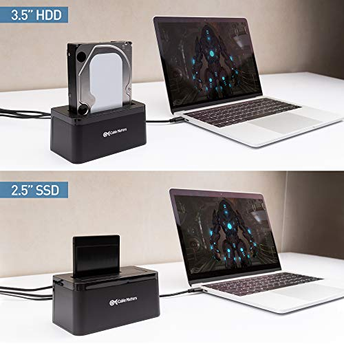 Cable Matters USB 3.0 Hard Drive Docking Station (USB to SATA Docking Station) with 10TB+ Drive Support for 2.5 Inch