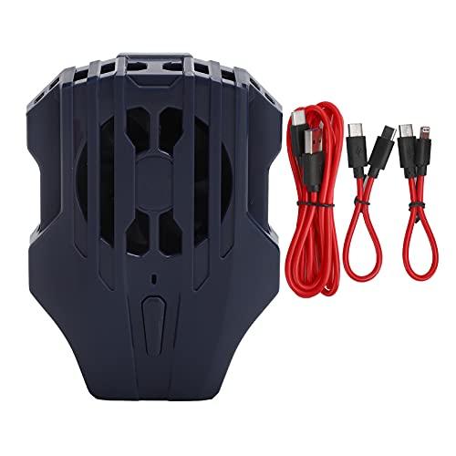 Enfriador de teléfono móvil, radiador portátil Buen Efecto Ventilador de enfriamiento de teléfono móvil para usuarios de teléfonos móviles para Oficina para entusiastas de los Juegos para