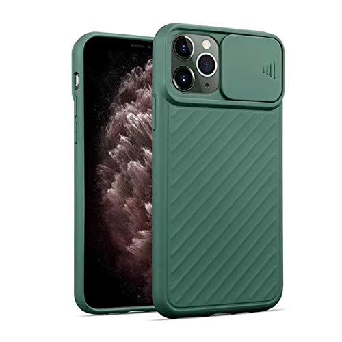 FOURTOC Funda para iPhone 11 11 Pro 11 Pro MAX Protección de La Cámara Delgado Ligera Resistente A Impactos Carcasa Anti-Golpes Anti-Arañazos Protectora Funda,Verde,8 Plus/7 Plus